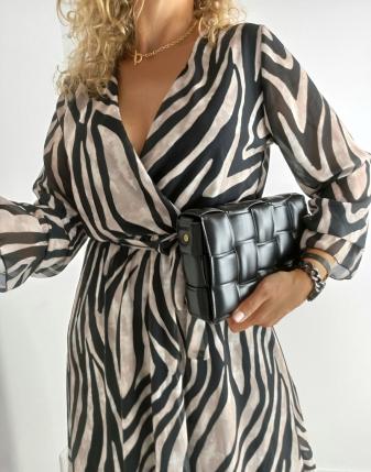 sukienka zebra długa