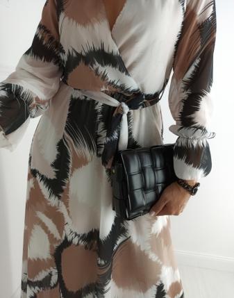 długa sukienka wzór