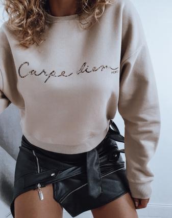 bezowa bluza carpe diem