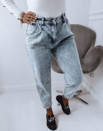 spodnie jeansowe marmurkowe slouchy
