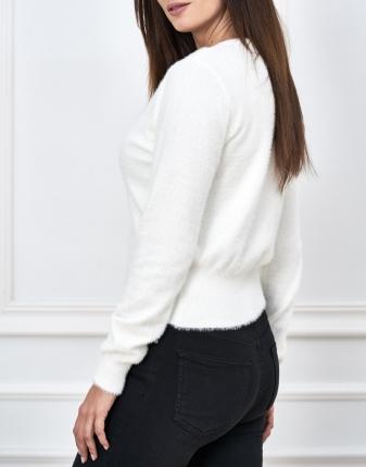 biały sweterek moherowy