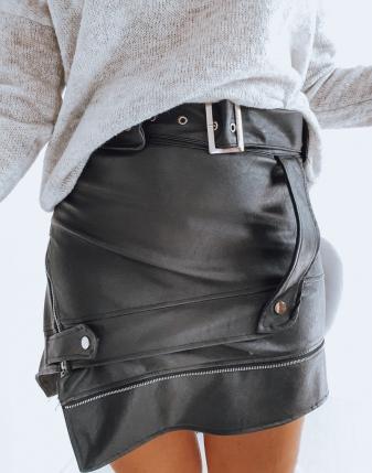 spódniczka mini skórzana