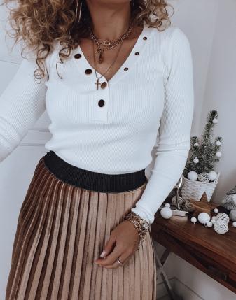 sweterek biały dopasowany