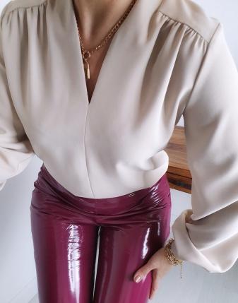 elegancka bEŻ bluzka