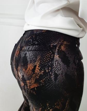 spodnie woskowane snake