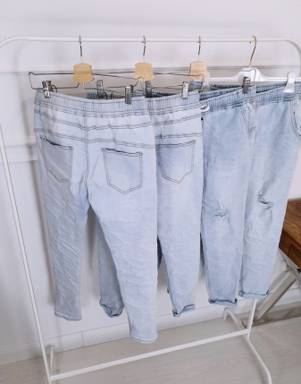 spodnie jeansowe na gumce w pasie lamaja butik 2