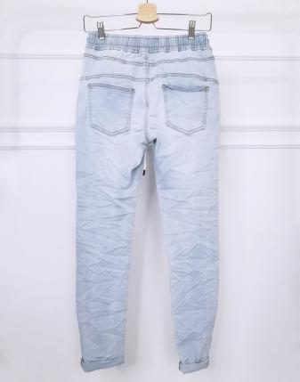 spodnie jeansowe na gumce 1