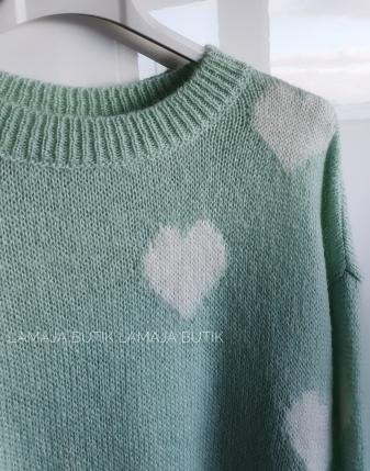 miętowy sweterek w serca lamaja butik 2