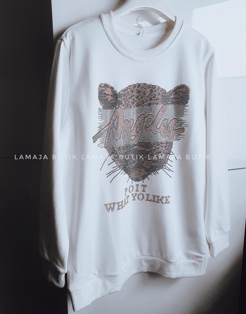 biła bluza dresowa z tygrysem lamaja butik