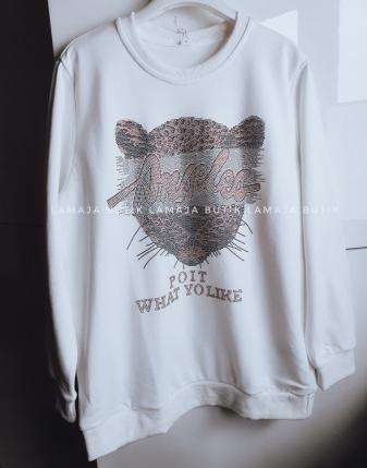 biła bluza dresowa z tygrysem lamaja butik 3