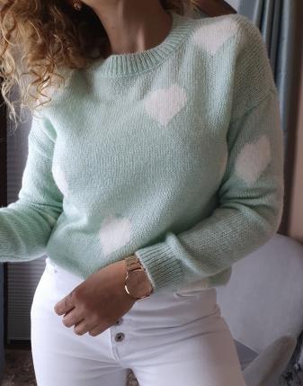 miętowy sweterek w serca lamaja butik 3