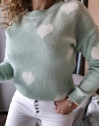 miętowy sweterek w serca lamaja butik 5