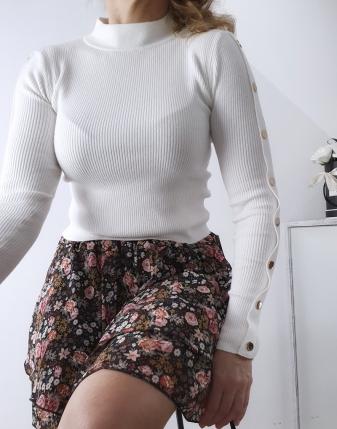 spódniczka mini w kwiatki2