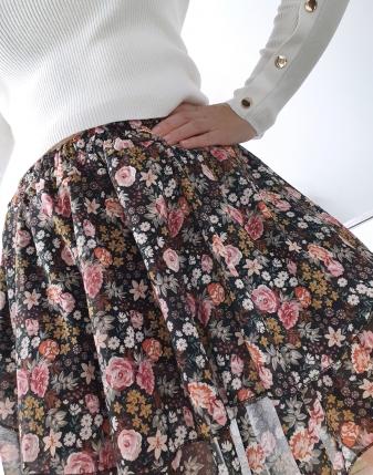 spódniczka mini w kwiatki 8