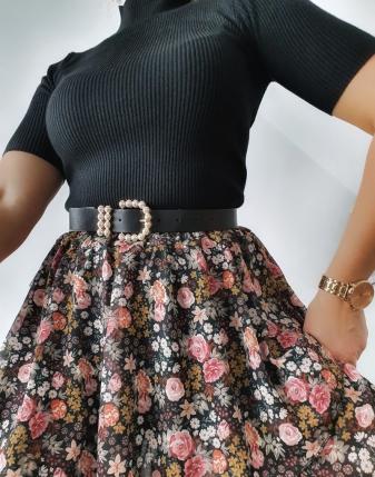 spódniczka mini w kwiatki 10