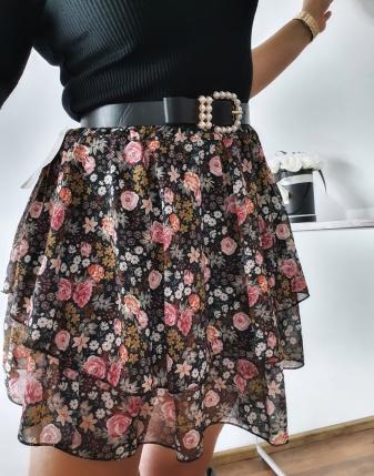 spódniczka mini w kwiatki 12
