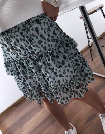 miętowa spódniczka w kwiaty mini lamaja 21