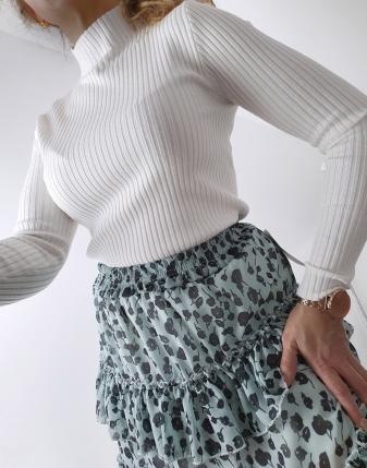 miętowa spódniczka w kwiaty mini lamaja 27