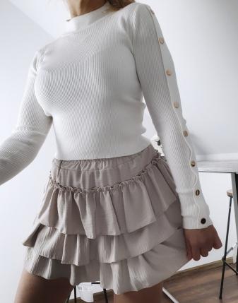 biały sweterek z napami 11