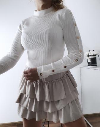 biały sweterek z napami 12
