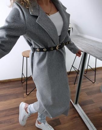 długi szary płaszcz 7