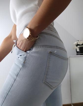 spodnie jeansowe na gumce 2