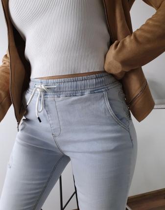 spodnie jeansowe na gumce 15