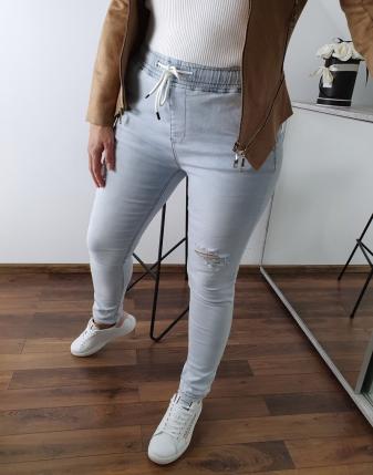 spodnie jeansowe na gumce 16