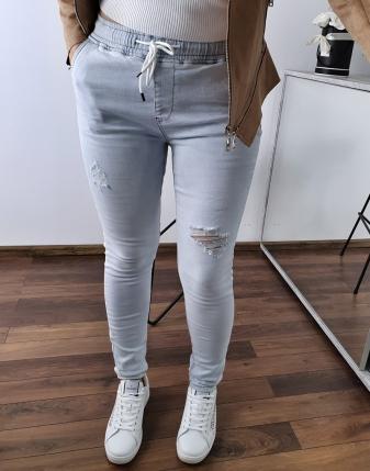 spodnie jeansowe na gumce 18