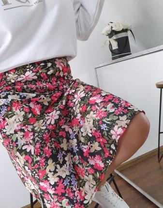 spódnica satynowa carla w kwiaty 3