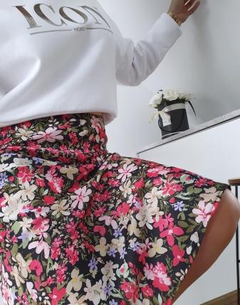 spódnica satynowa carla w kwiaty 4