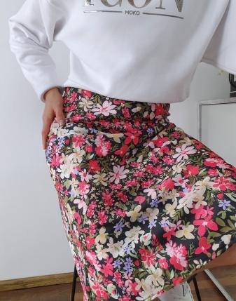 spódnica satynowa carla w kwiaty 5