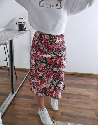 spódnica satynowa carla w kwiaty 10