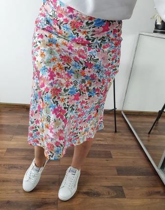 spódnica satynowa w kwiaty francesca lamaja 2