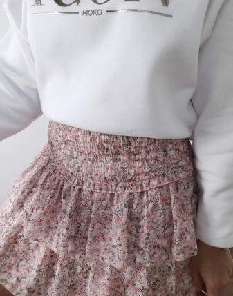 mini spódniczka różowa w kwiatki