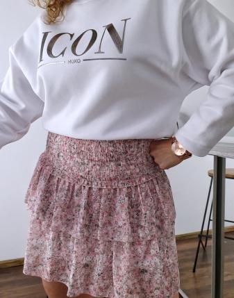 mini spódniczka różowa w kwiatki 2