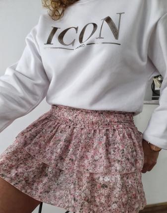 mini spódniczka różowa w kwiatki 6