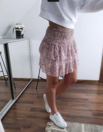 mini spódniczka różowa w kwiatki 8