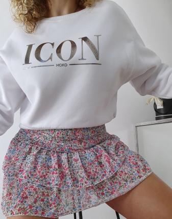 kolorowa spódniczka mini z falbankami 3