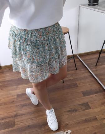 spódniczka mini z falbankami w kwiatki lamaja