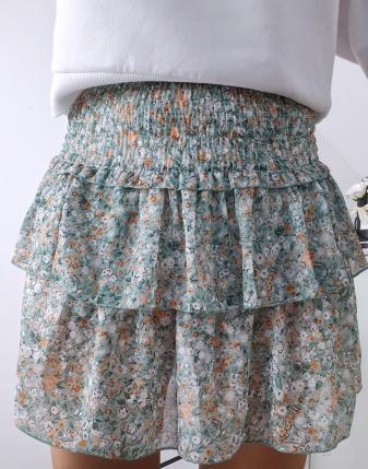 spódniczka mini z falbankami w kwiatki lamaja 1