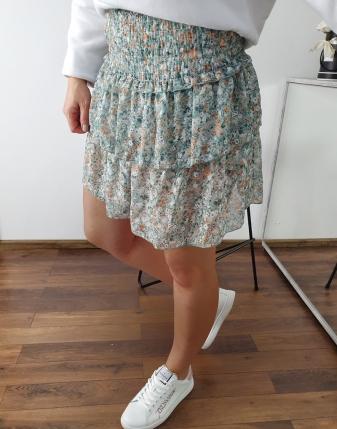 spódniczka mini z falbankami w kwiatki lamaja 5