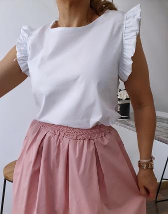 bluzka płócienna biała 12