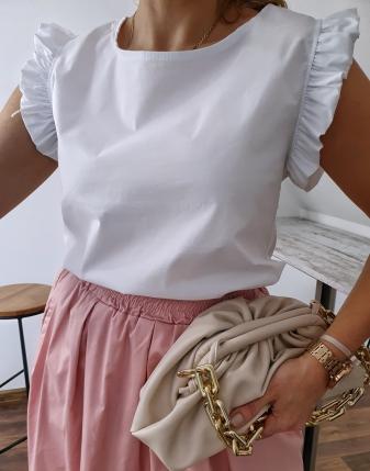 bluzka płócienna biała 2