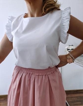 bluzka płócienna biała 3