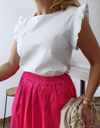 bluzka płócienna biała 4