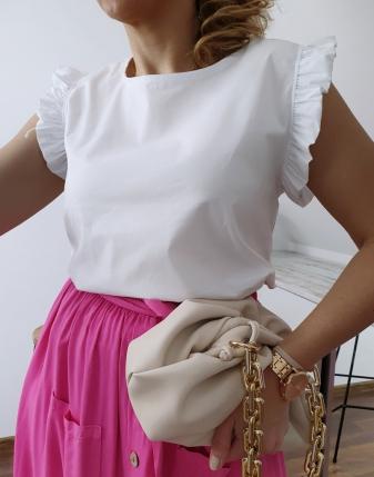 bluzka płócienna biała 5