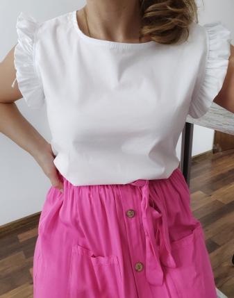 bluzka płócienna biała 6