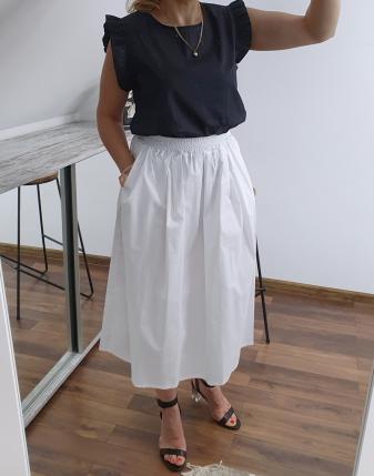 biała spódnica bawełniana 1