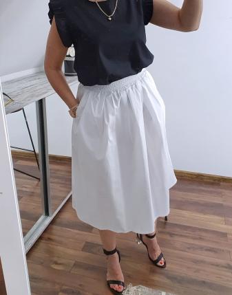 biała spódnica bawełniana 2